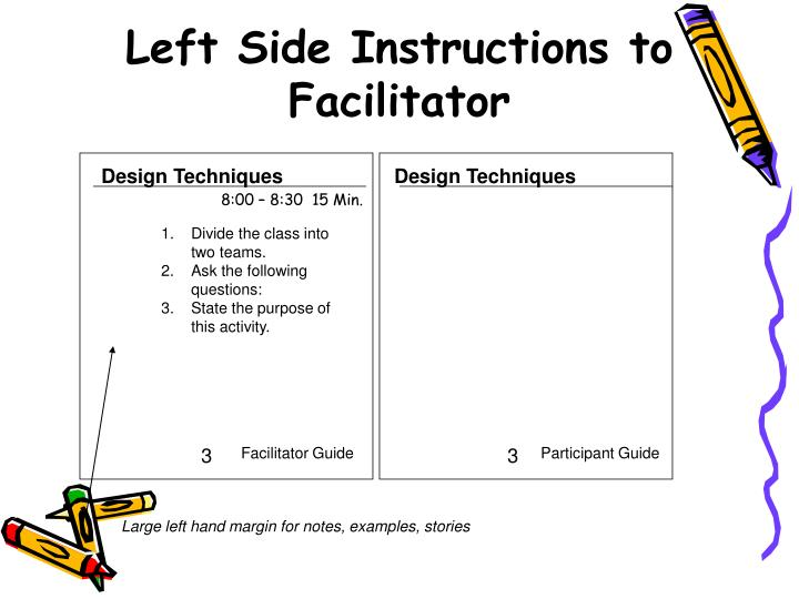 activity guide and facilitation notes