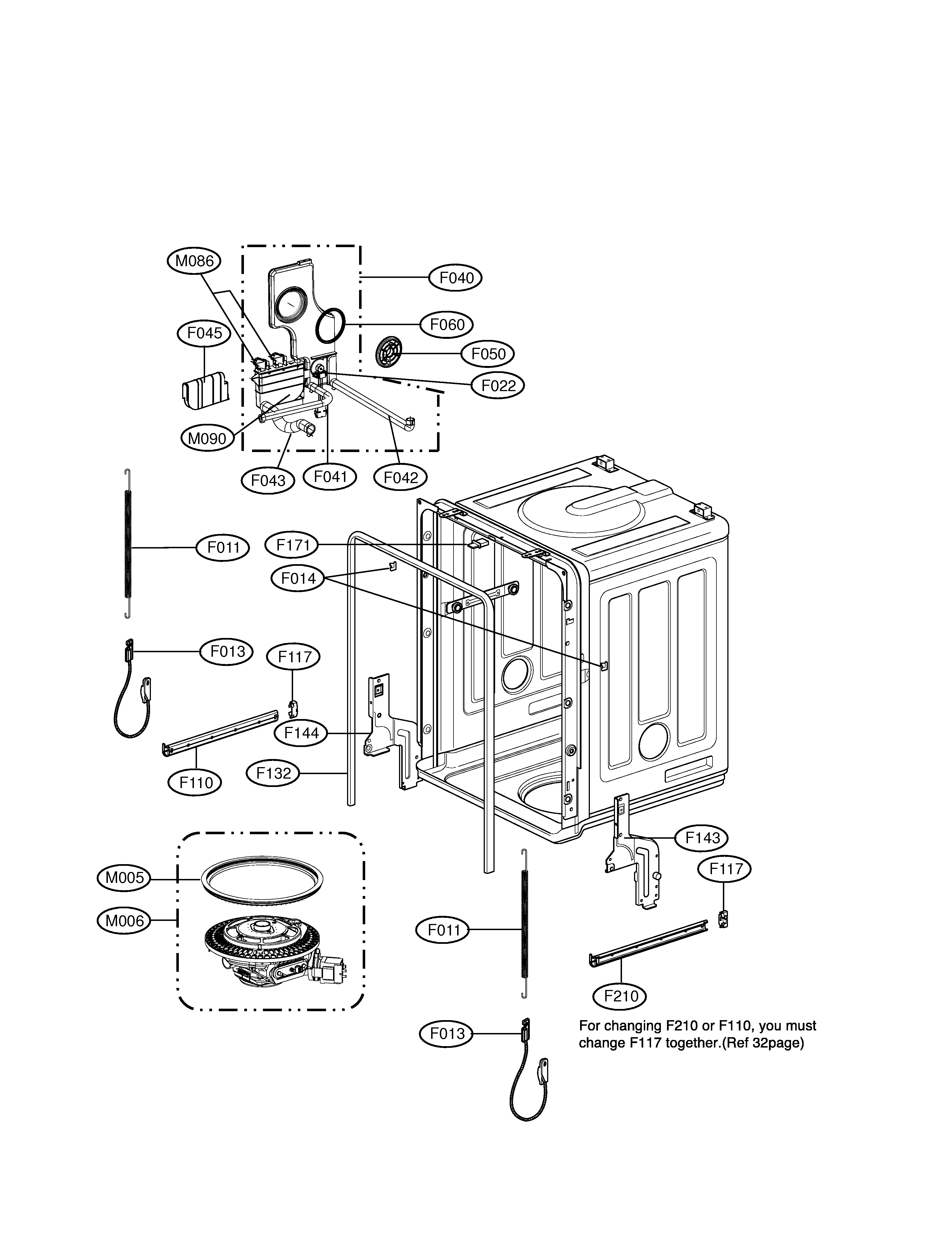 lg dishwasher spray guide assembly