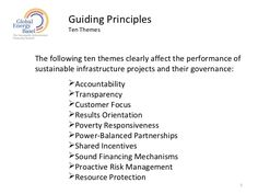 what are guiding principles for a project plan