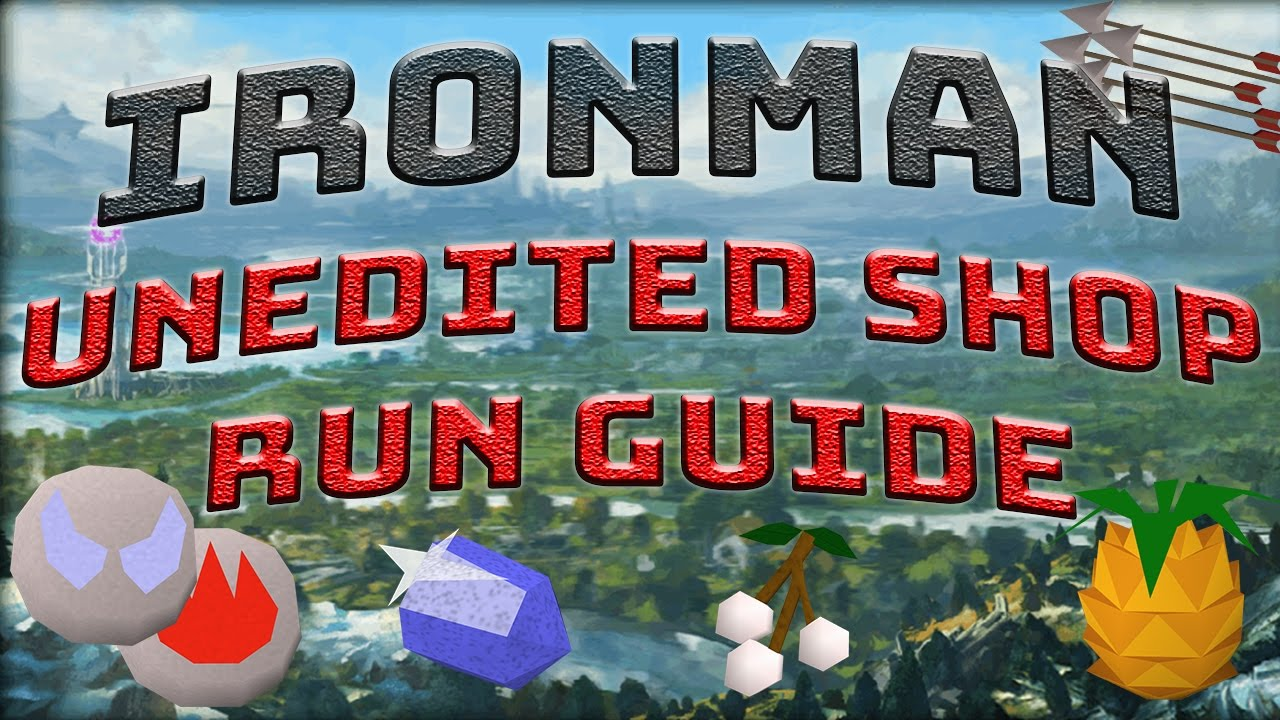 runescape iron man starting out guide
