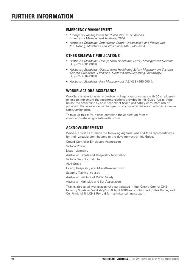 guide to the ohs act 2004 worksafe victoria