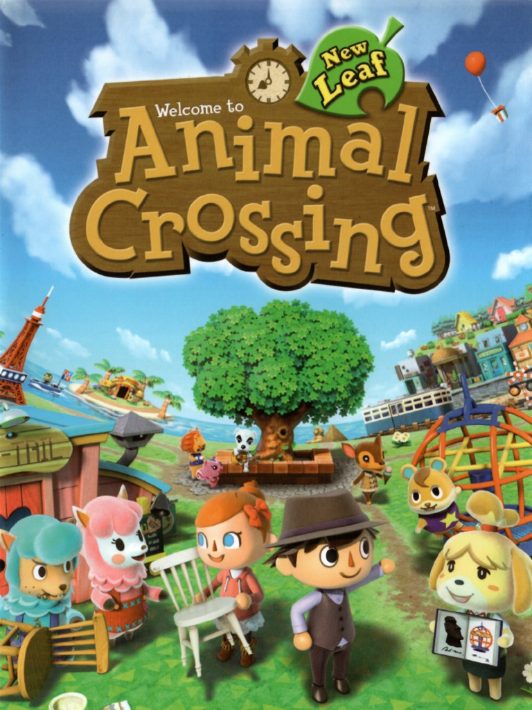 animal crossing new leaf guide book english