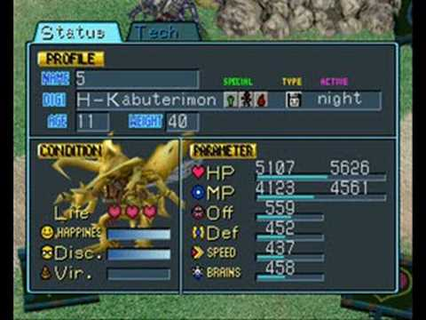 digimon world 3 stat guide