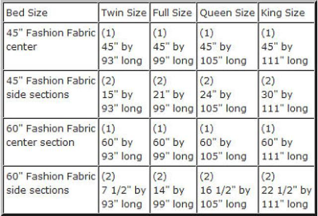 bed and bridge size guide