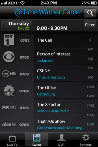 at and t cable channel guide