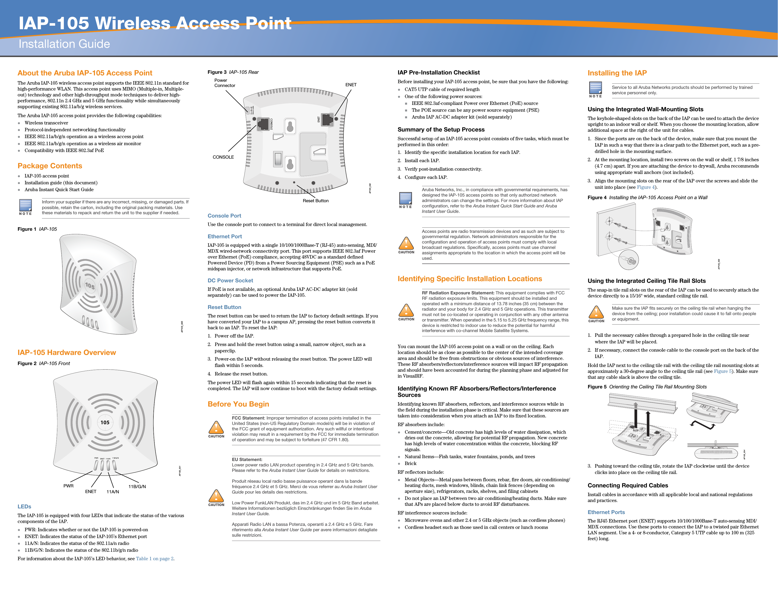 ap-105 wireless access point installation guide