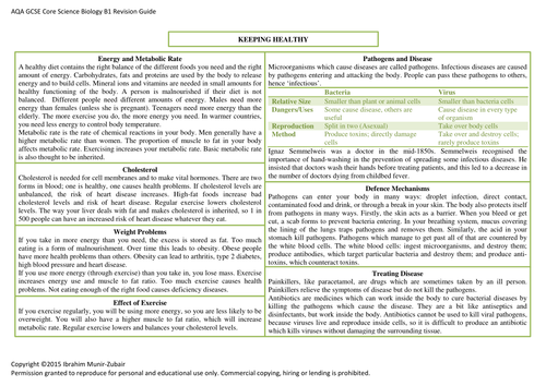 aqa science revision guide online