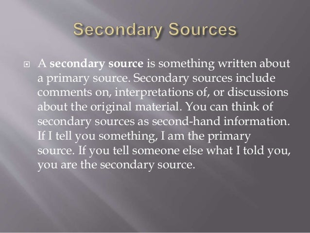 are tour guides primary or secondary sources