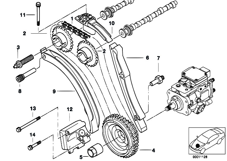 bmw 320d e90 timing chain guide