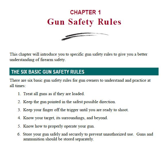 california gun safety test study guide