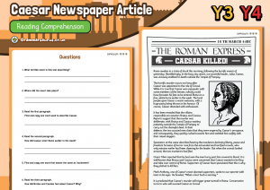 guided reading activities ks2 newspaper