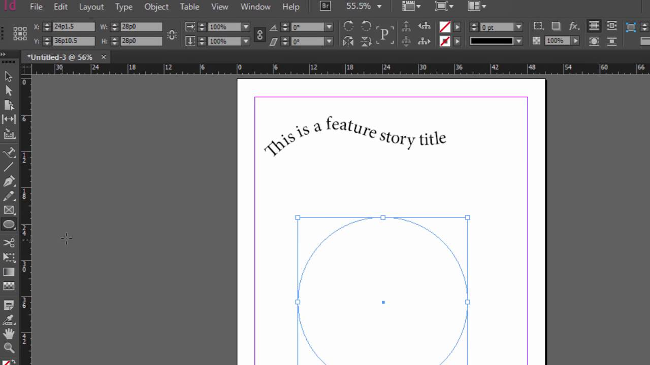 how to get writing guide lines on indesign