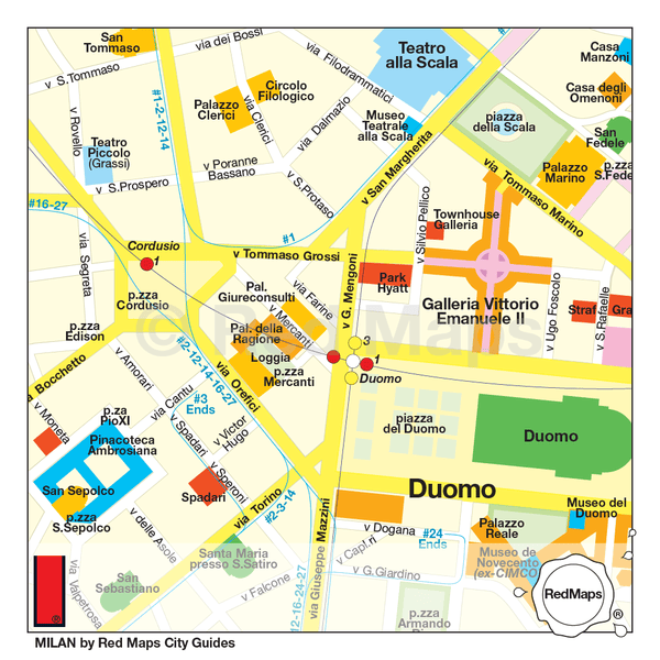 milan city centre map guide