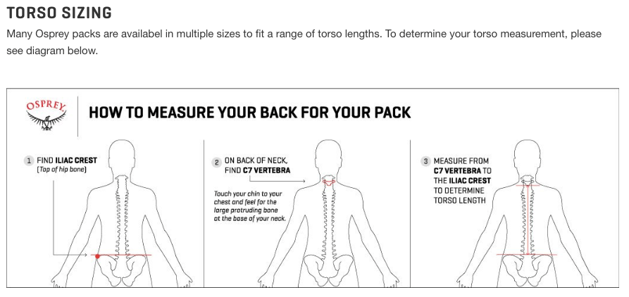 pack sizing guide by litres