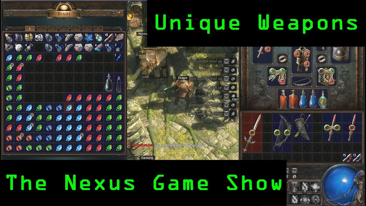 path of exiles weapon guide