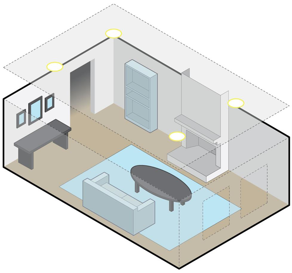 placement guide for in ceiling surround speakers